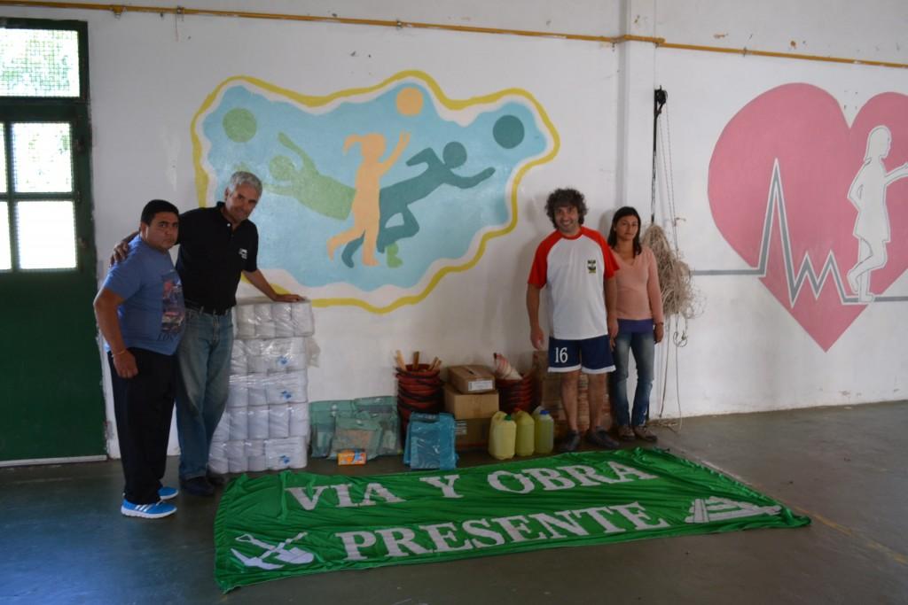Donación recibida por la Escuelas 11.