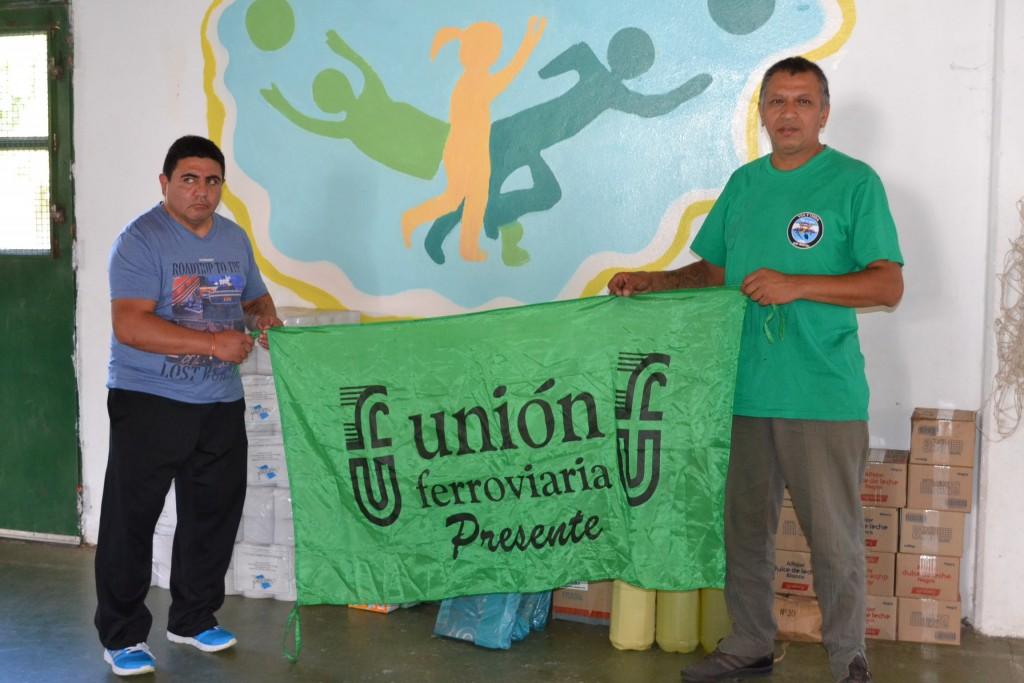 Walter Fernández (izquierda), en Escuela 11.