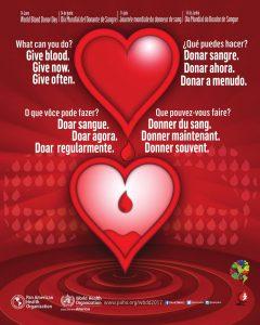 """14 de Junio: """"Día Mundial del Donante de Sangre"""""""