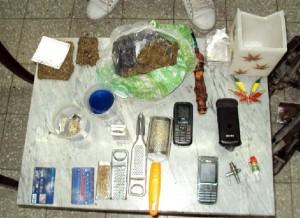 Imagen de lo secuestrado al cadete en Bahía Blanca.