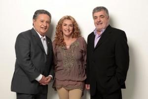Eduardo Duhalde, Claudia Rucci y Eduardo Amadeo.