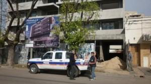 Imagen del edificio donde cayó el obrero.