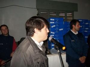 Andrés Verde abrió los discursos.