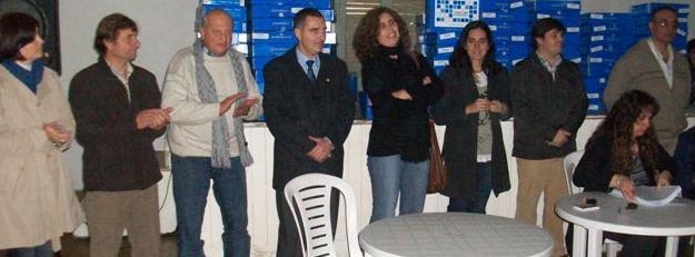 Autoridades presentes de izquierda a derecha: Campagnola, Millán, Micucci, Chemelle, López, Pedersolli, Verde e Ibarra.