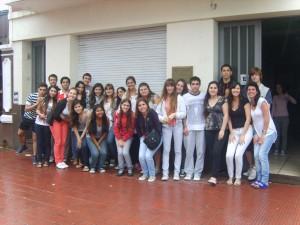 Estudiantes de Chacabuco en La Plata.