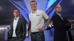Federico Bert (Aacrea), Jaap Rommelaar (ZoomAgri) y Alejandro Repetto, experto en informática. Foto: Diego Lima