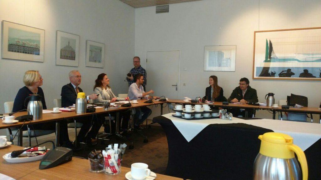 Reunión en la que participó Federico Bert entre profesionales holandeses y argentinos.