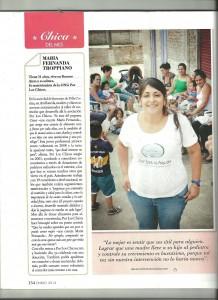 María Fernanda Troppiano en la revista Susana.