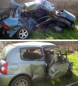 Imagen de los autos involucrados en el fatal accidente.
