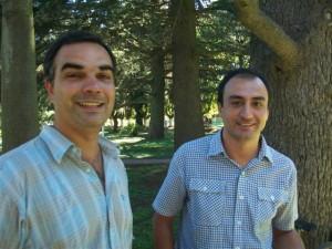 Los concejales Radicales Ariel Di Piero y Mariano Cámera en los festejos de los 127 años de Rawson.