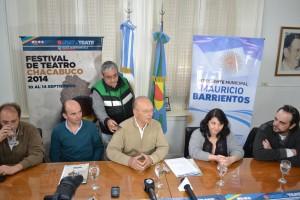 Presentaron el Festival de Teatro Chacabuco 2014.