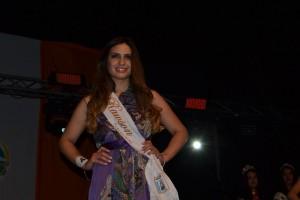 Abigail Sánchez fue una de las 17 aspirantes a Reina, representando a la Delegación Municipal de Rawson.