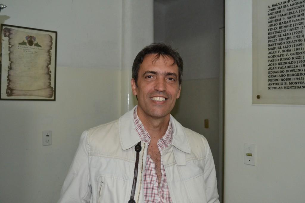 Marcelo Skansi, Intendente de Carmen de Areco, en la fiesta de Rawson.
