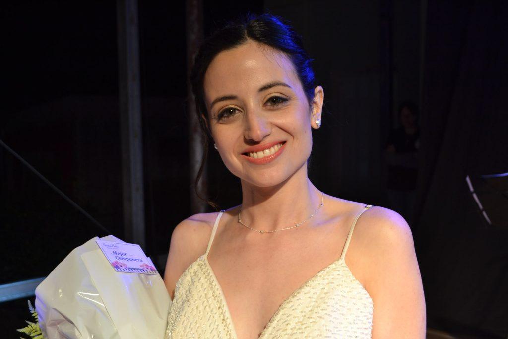Mejor Compañera, Agustina Caputto, 25 años, representaba al Club Juventud Unida de Alberti.