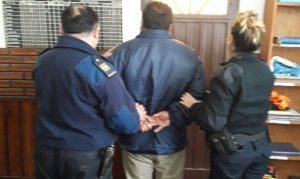 El aprehendido en la Sede Policial