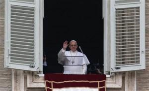 Francisco, hoy en la plaza San Pedro del Vaticano.