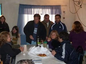 Geloso en los barrios Kirchner y de la Peña en Chacabuco.