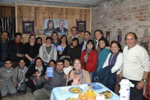 Candidatos del Partido Justicialista en el Barrio UOCRA de Chacabuco.
