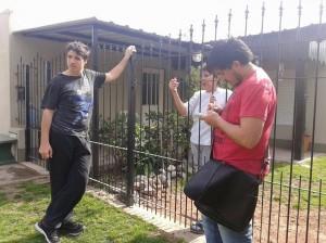Integrantes del GEN en el Barrio La Amistad.