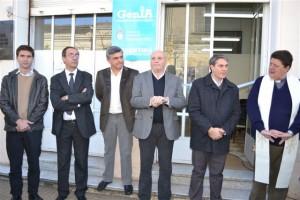 Autoridades en la inauguración de la oficina GenIA en Chacabuco.