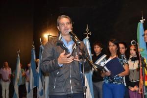 El Diputado Provincial Darío Golía haciendo uso de la palabra.