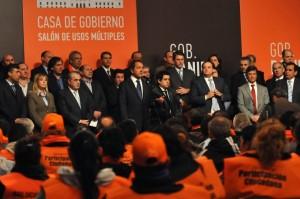 Golía en la Plata junto al Gobernador e intendentes.