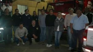 Martínez, Menghi Y Álvarez en el cuartel de Bomberos Voluntarios de Castilla.