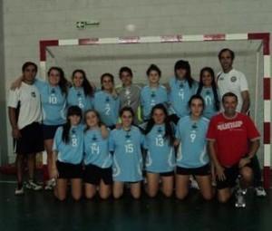 Encuentro amistoso de handball.