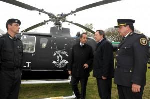 Entregan helicóptero a Grupo Halcón.