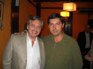 Alberto Fernández y Hugo Moro.