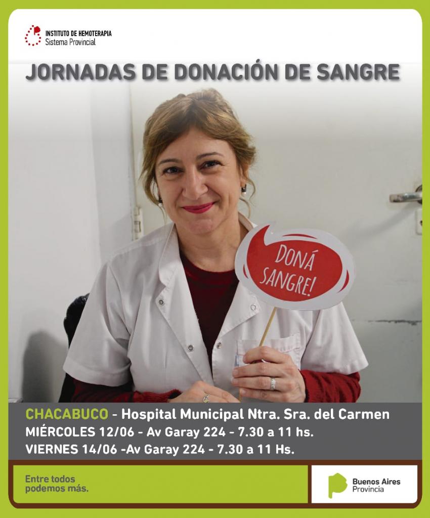 """Donación: """"sangre segura para todos"""""""