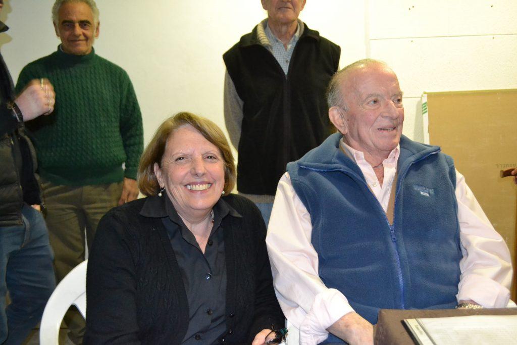 Granados junto a su esposa, Raquel Vignolo.