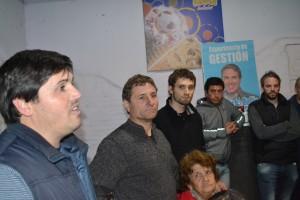 Andrés Verde, Gustavo Millán y Santiago Piccone.