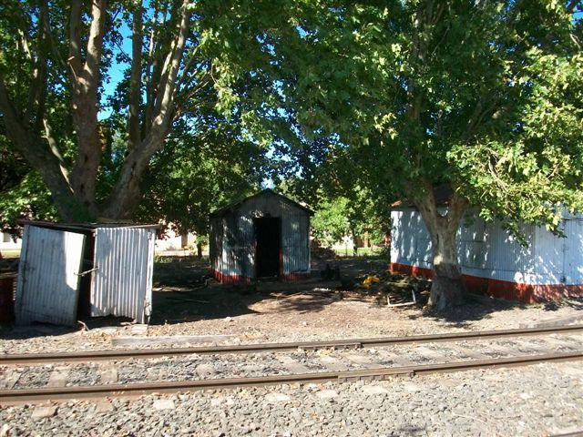 Incendio en casilla del ferrocarril.