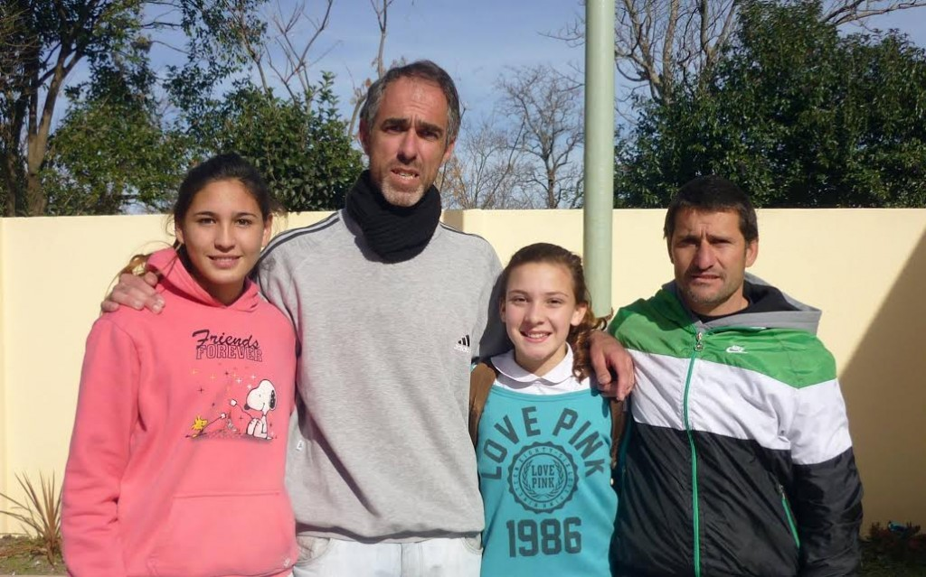 Las atletas de la Institución, Irina Rodríguez y Juanita Zanlungo en Mar del Plata.