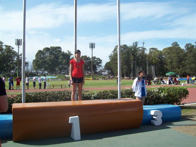 Irina antes de recibir la medalla de oro.