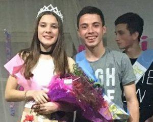 Juanita Zanlungo junto a Valentin Baquero.
