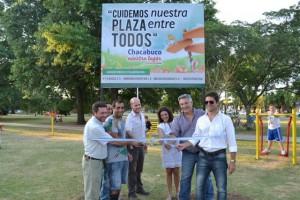 Inauguraron los juegos de Plaza Belgrano de Chacabuco.