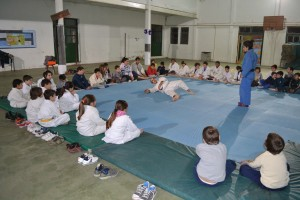 Exhibición de Judo en Rawson.