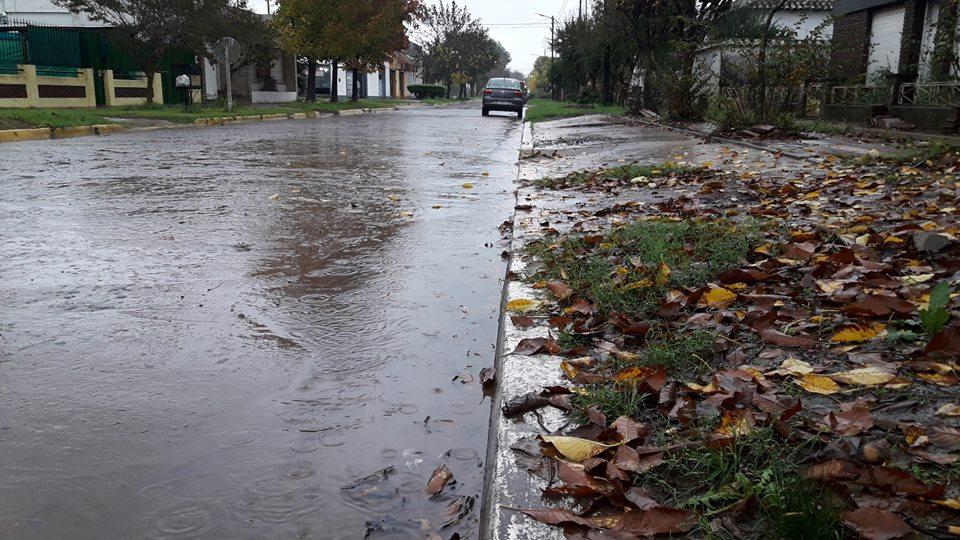 10/5/18- La lluvia caída en Rawson desde la mañana de hoy y hasta las 17 horas, 60 milímetros.