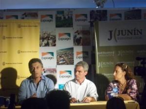 Mauricio Macri, Mario Meoni y Gabriela Michetti.