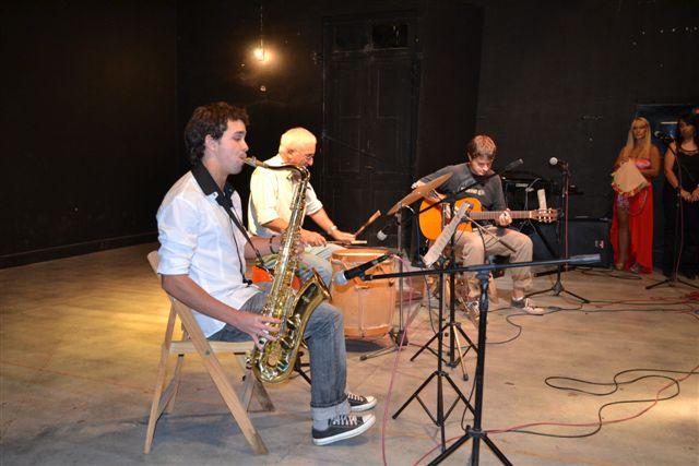 Santiago Sosa, Oscar Talento y Christian Fagan.