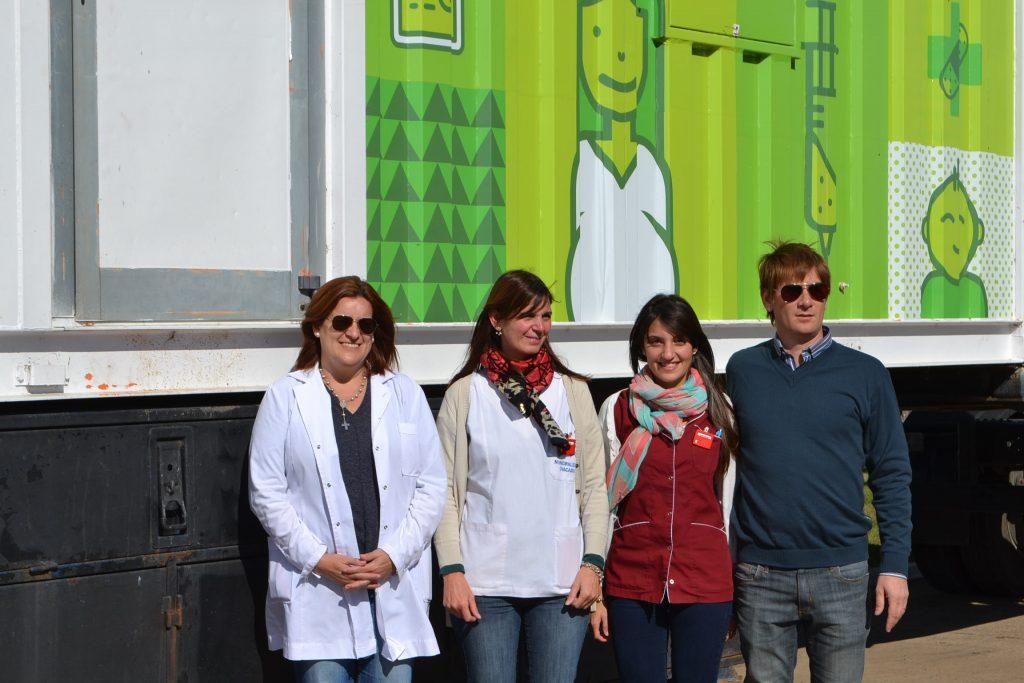 La Dra. Charini y Serritella junto a las radiólogas Danisa Rotondaro y Melisa Fernández.