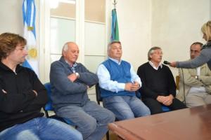 De Izq. a derecha: Millán, Micucci, Barrientos, Papini y Brindisi, durante la entrevista con Sobre Nivel, realizada por Mónica del Castillo.