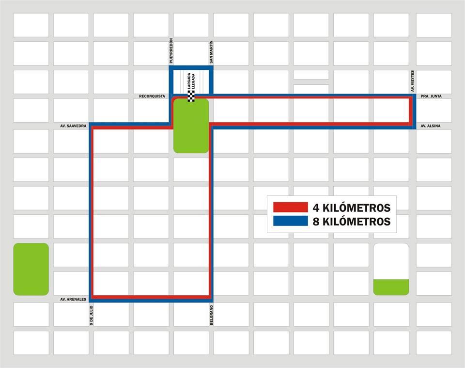 Mapa del circuito de la maratón