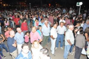 Otra imagen de la marcha en Chacabuco. Foto gentileza: Marcelo Farías.