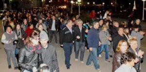 Marcha contra el tarifazo en Chacabuco.