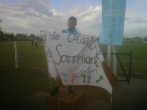 Marco Benedeti, de la Escuela de Atletismo del Club Sarmiento, obtuvo Mención Especial.