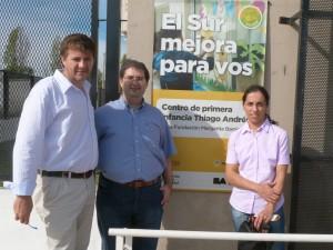 El dirigente del PRO Chacabuco Marcos Skally presente en la experiencia.