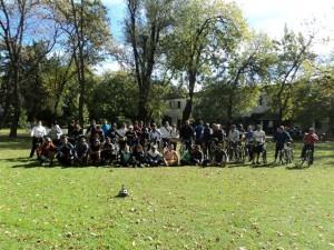 Participantes del cicloturismo.